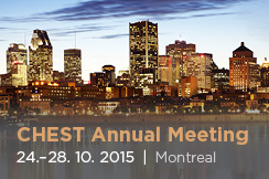 American College of Chest Physicians Annual Meeting (24. - 28. 10. 2015)